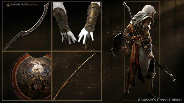 Assassin's Creed Origins Bayek's Weapons.