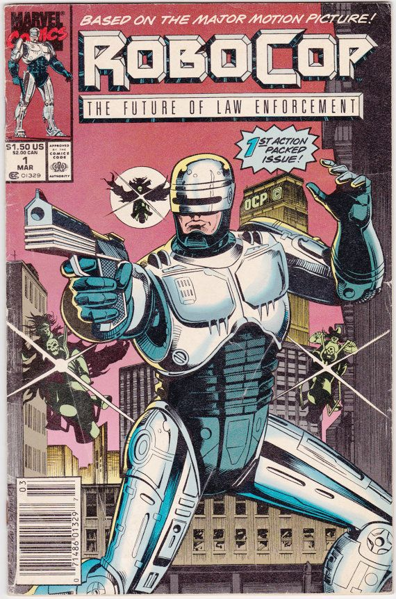 Comic - Robocop 1 - Marvel Comics - Vintage Bronze Age (1990) - Robo-Cop, Alex Murphy, 1980s Action Movie, Cult Classic