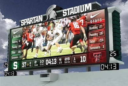 Michigan State football proposes three new video screens