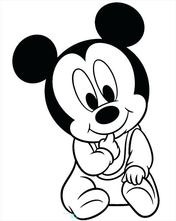 Simple Mickey Mouse Coloring Pages Ideas For Children Mickey