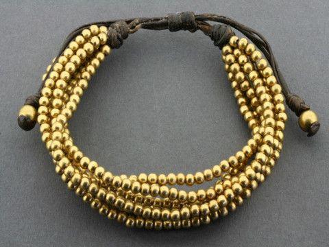 7 strand brass bead bracelet