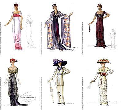 Titanic costume drawings
