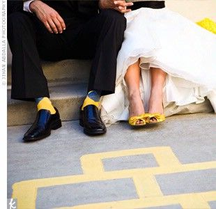 black and yellow weddings