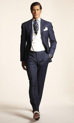 Best 25  Navy pinstripe suit ideas on Pinterest | Suit pants, Ootd ...