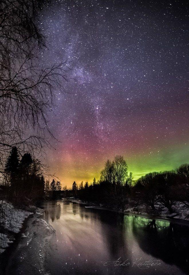 Northen lights Finland by Asko Kuittinen
