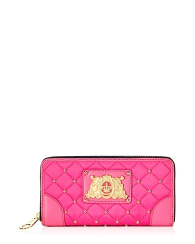 Upscale Quilted Nylon Zip Wallet