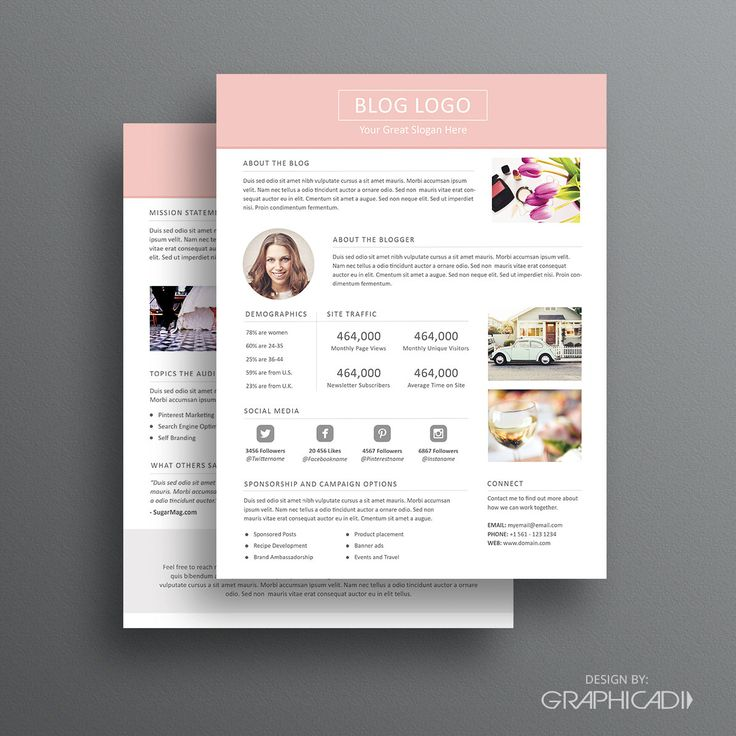 Best Media Kits Images On   Media Kit Template Press