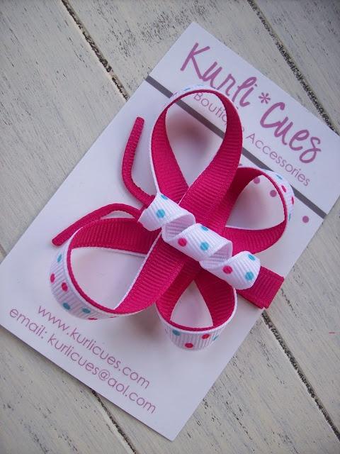 Kurli•Cues Boutique: Butterfly Hair Clip Tutorial