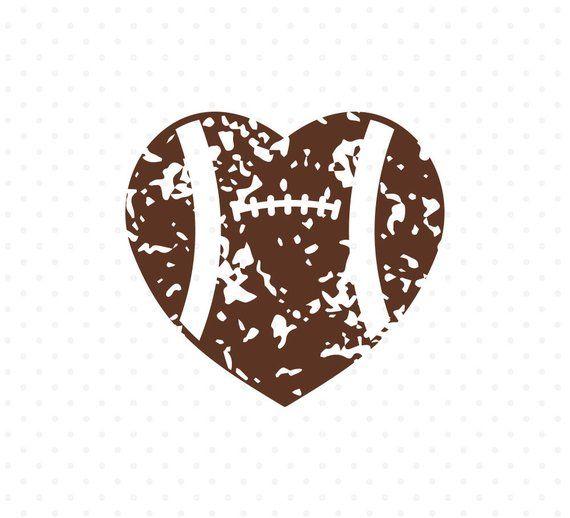 Distressed Football Svg Football Heart Svg Football Love Svg Etsy Football Heart Football Love Photo Cards
