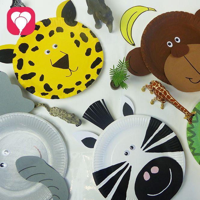 Roar und Trara!  Du hast Dschungel als Motto des Kindergeburtstags gewählt? Dann bist Du hier richtig! Wir zeigen Dir, wie Du mit Papptellern lustige Tiere für die Deko zaubern kannst. Oder nutze dies doch als Spiel für die Kids und lass sie selbst die Tiere gestalten. Denn das ist wirklich einfach.  Weitere passende Ideen für Essen, Deko, Spiele und Give-aways für Deine Kindergeburtstagsparty findest Du auf blog.balloonas.com #kindergeburtstag #balloonas #spiel # safari # dschungel #tie