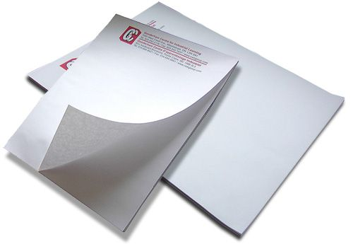 Notepads come in 25, 50 or 100 sheets backed by chipboard and are glued at the top. They are available in 1, 2, and 4 color printing. 1 & 2 Color Notepads are available in Pantone colors. http://www.blackpineprinting.com