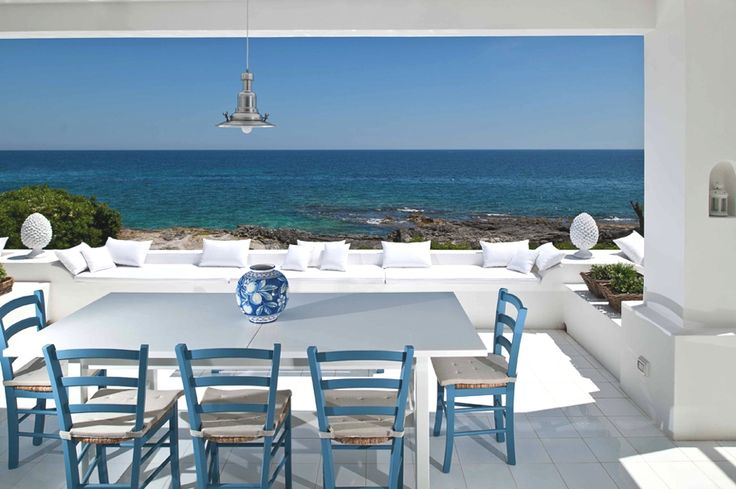 Sicilian Villa... bring it home with the colours on the dining set :)