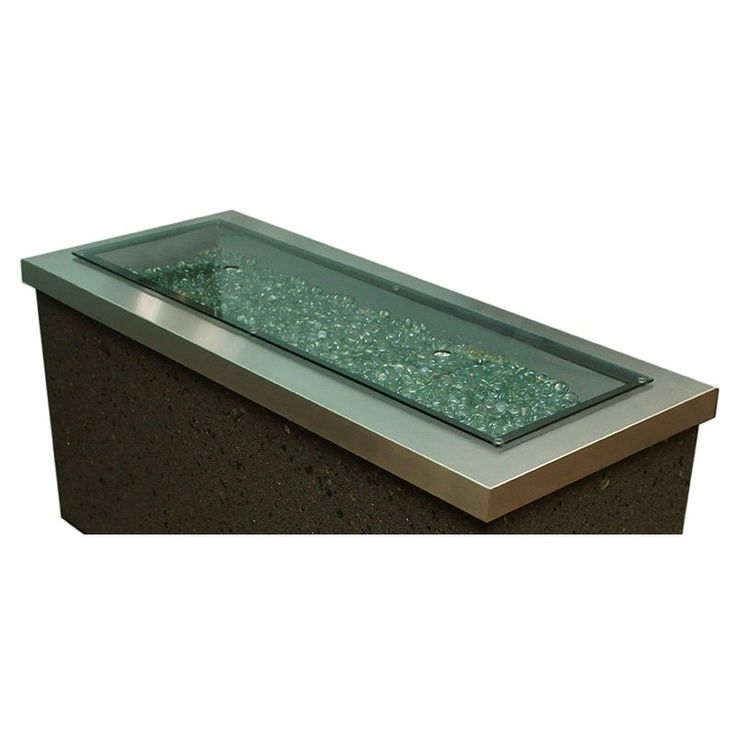 Outdoor GreatRoom Glass Fire Pit Burner Cover | from hayneedle.com