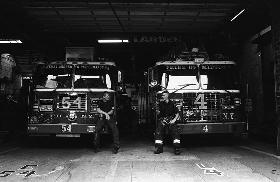 FDNY Manhattan  analogue photography silver print by DAniaFoto, $10.00