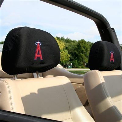 Los Angeles Angels of Anaheim Black 2-Pack Headrest Covers