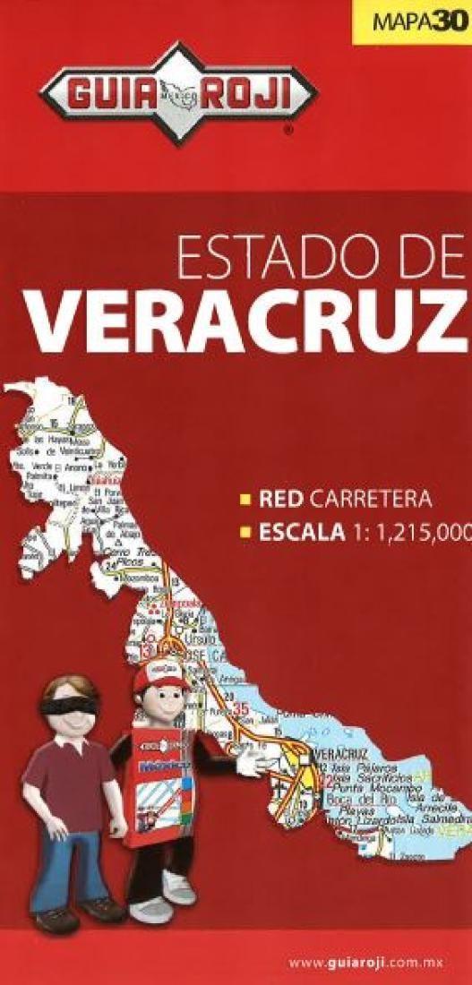 Veracruz, Mexico, State Map by Guia Roji