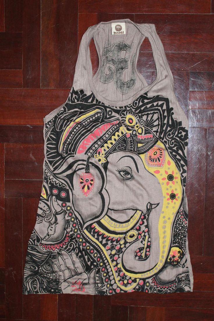 Women's T shirt FREE SIZE ONLY S/M Ganesha Hindu OM Sign Hamsa Hand Yoga Clothing Buddha T-shirt Yoga Tee