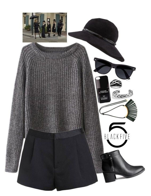 """American Horror Story Coven Witch Style - BlackFive {142}"" by style-and-chic-boutique ❤ liked on Polyvore featuring River Island, Eric Javits, H&M, Iphoria, David Yurman, Marni and Coven"