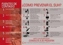 Síndrome Urémico Hemolítico #SUH #Prevención #Enfermedades transmitidas por #Alimentos #Infografía