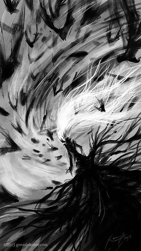 """""""Los insectos de la noche se callaron. Las lechuzas lamentaron, por vez primera, su privilegio de ver en lo oscuro. Los murciélagos se descolgaron de su sueño para hacerle cortejo..."""" Libro II - Los días de la Sombra"""