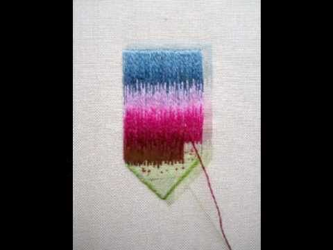 Long and short stitch embroidery