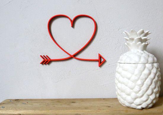 Dekoration für die Wände: 3D Pfeile, Valentinsgeschenke für IHN zum Valentinstag - Jules & Pi