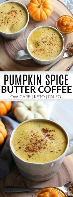 Pumpkin Spice Butter Coffee | healthy coffee recipes | homemade butter coffee | low-carb coffee recipes | keto friendly coffee recipes | paleo coffee recipes | healthy fall drinks | healthy pumpkin spice recipes || The Real Food Dietitians #buttercoffee #healthydrinks #pumpkinspice