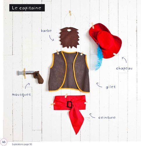 Déguisements et jouets en tissu par Virginie Desmoulins :  Pirate #deguisement #couture #diy