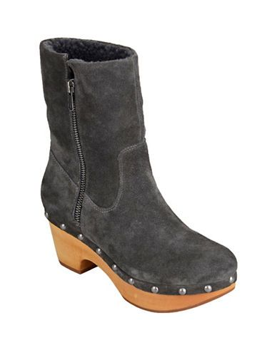Womens grey calf boots