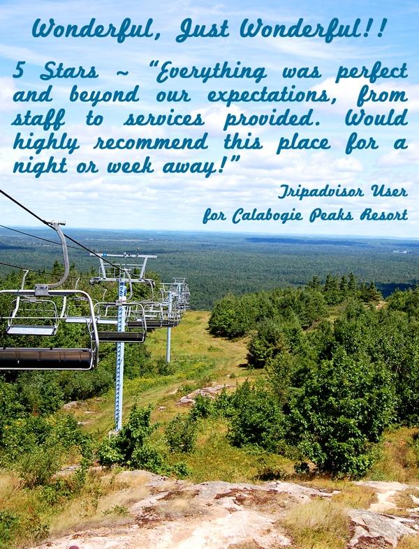 Wonderful, Just Wonderful!!     Visitor testimonial for Calabogie Peaks Resort..  http://www.calabogie.com