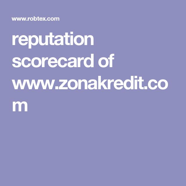 reputation scorecard of www.zonakredit.com
