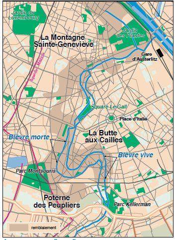 plan itinéraire bièvre paris
