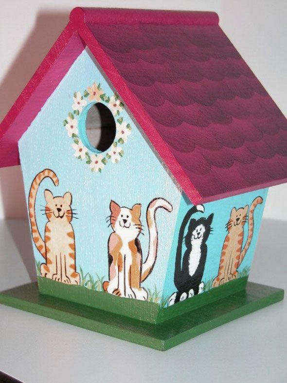 14 Best Birdhouses Images On Pinterest Birdhouse Ideas Painted