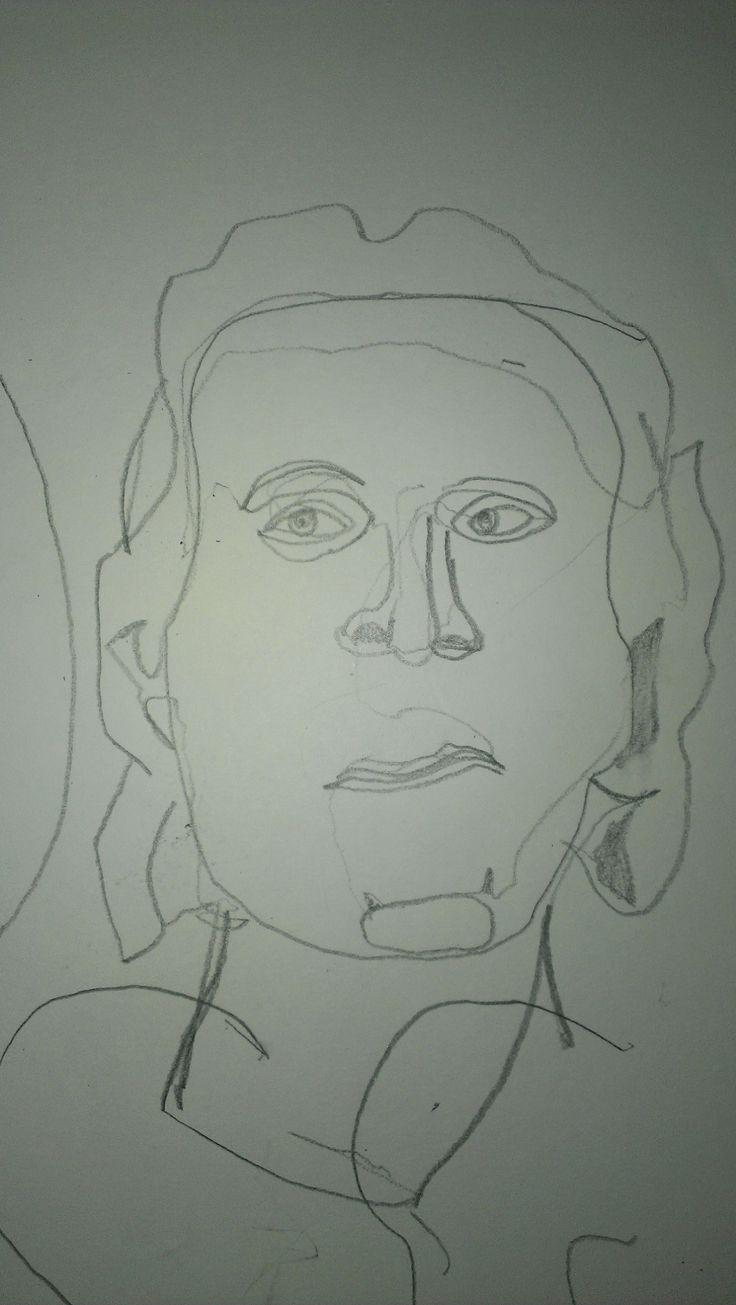 A continuous line drawing by Anuda aged 9