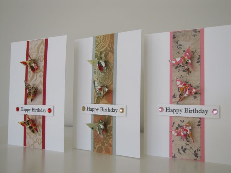Origami Butterflies Birthday Cards $7.50 each Order via www.facebook.com/chienowa.origami