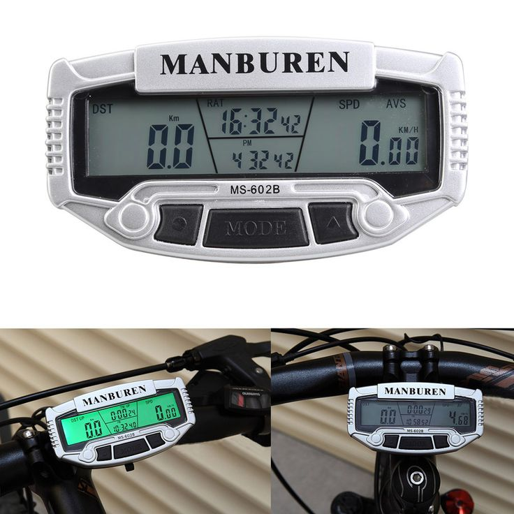 LED Digital LCD Backlight Bicycle Computer Bicycle Odometer + Speedometer + Stopwatch Bicycle Accessories BHU2