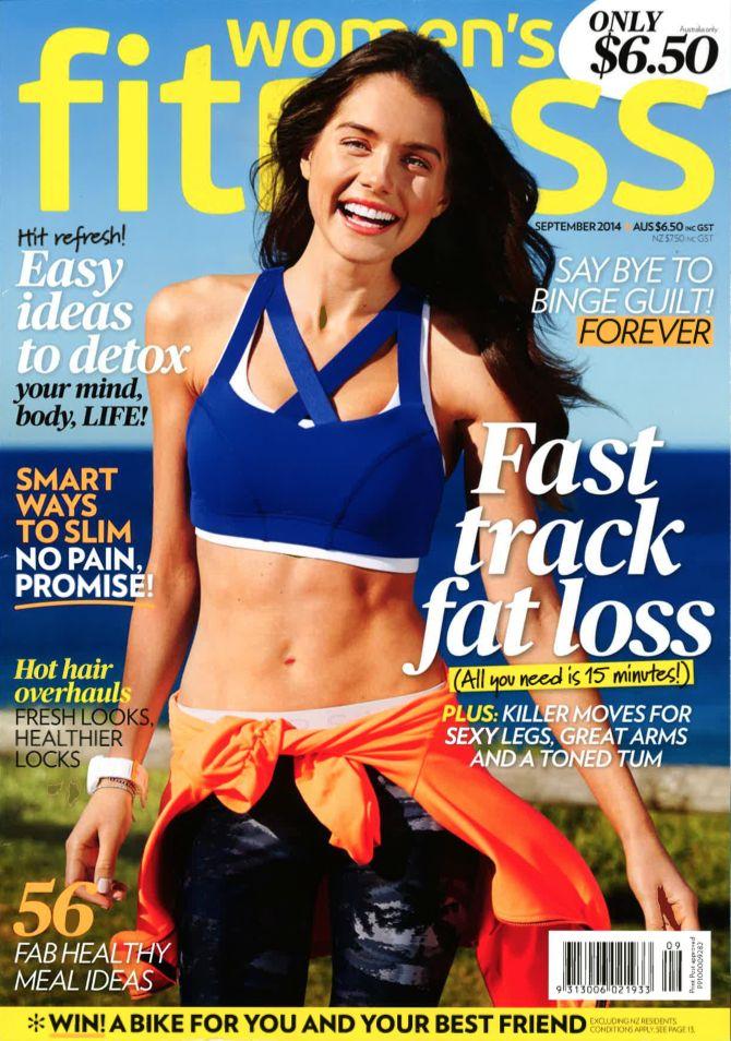 Woman's Fitness Magazine - September 2014.  Model wears THE UPSIDE Palm Prana Pant  http://theupsidesport.com/index
