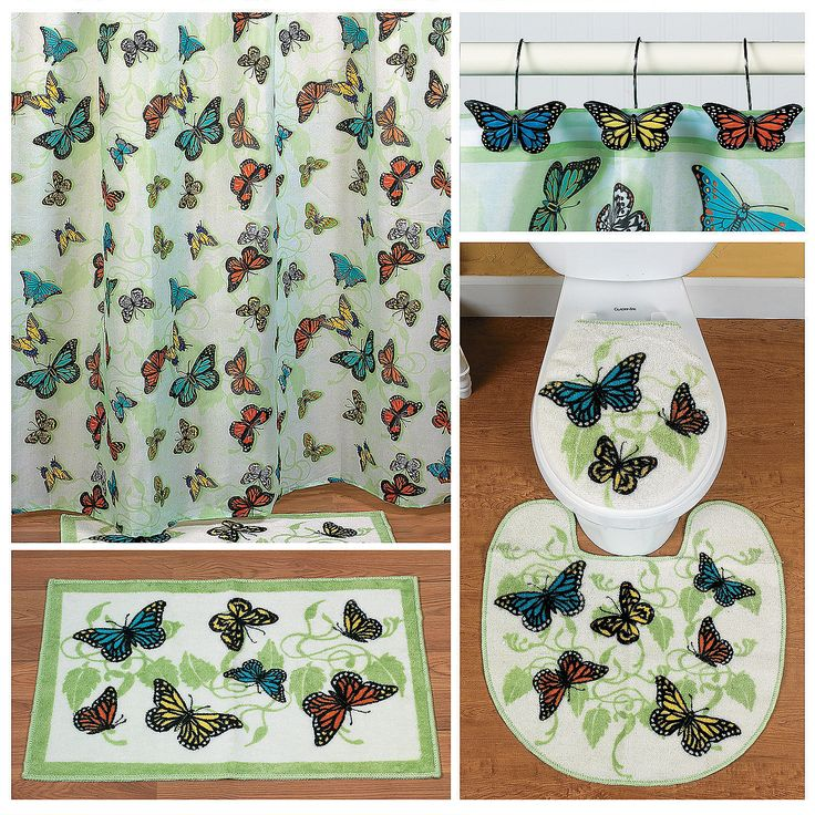 113 best butterfly images on pinterest butterflies for Bathroom decor rugs