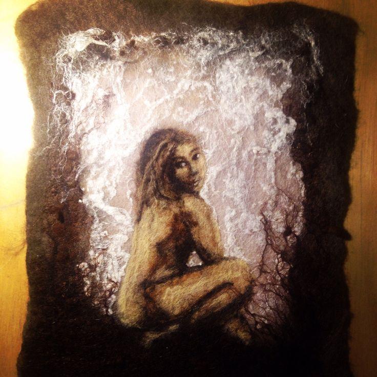 Mulatka obraz malowany wełna