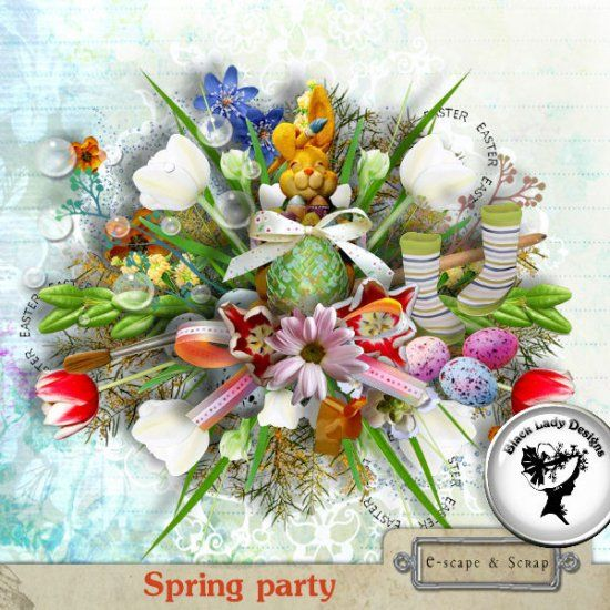 Spring party by Black Lady Designs
