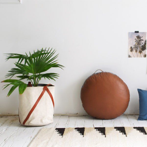 Who doesn't love to laze around? Or put their feet up. These beautiful butter soft, round leather floor cushions, are the perfect time out cushion.  Made for lounging around, and great for kids seating and reading nooks.