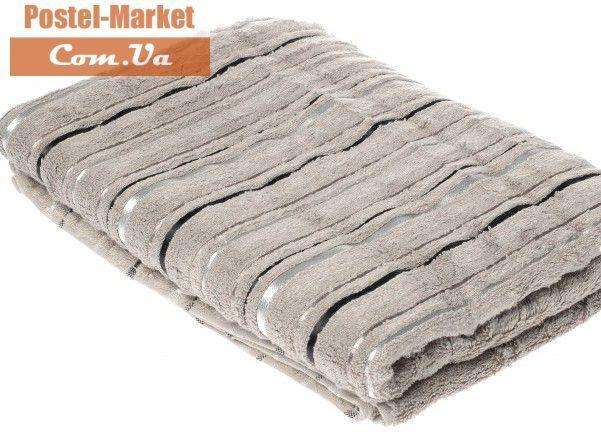 Серое полотенце Floslu A.Gri | Купить полотенце Floslu 90х150 бамбук - Постель Маркет