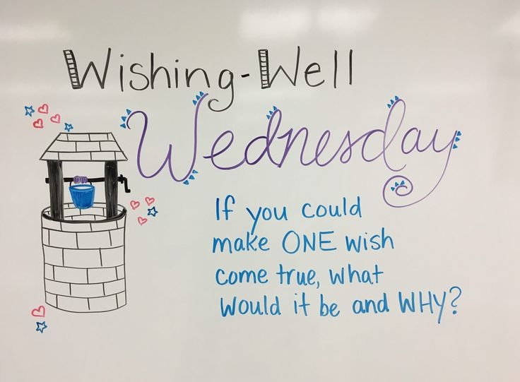 Wishing Well Wednesday whiteboard journal prompt