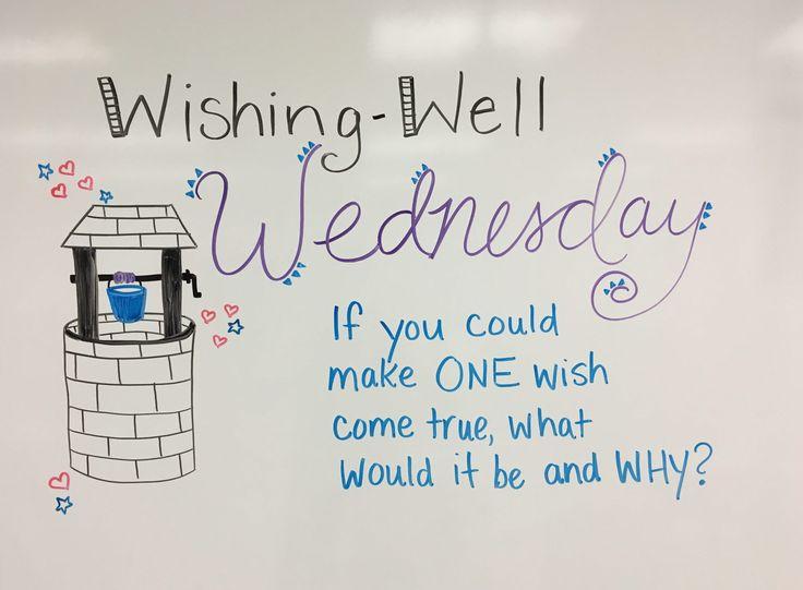 Wishing Well Wednesday whiteboard journal prompt