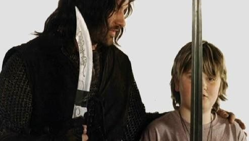 """Viggo and Henry Mortensen. (According to IMDb.com, Henry Mortensen was in The Lord of the Rings: The Two Towers as a """"Reluctant Rohan Child Warrior (uncredited)"""""""