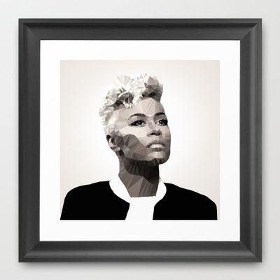 Emeli Sande | Polygonal Art Framed Art Print by Mirek Kodes - $37.00
