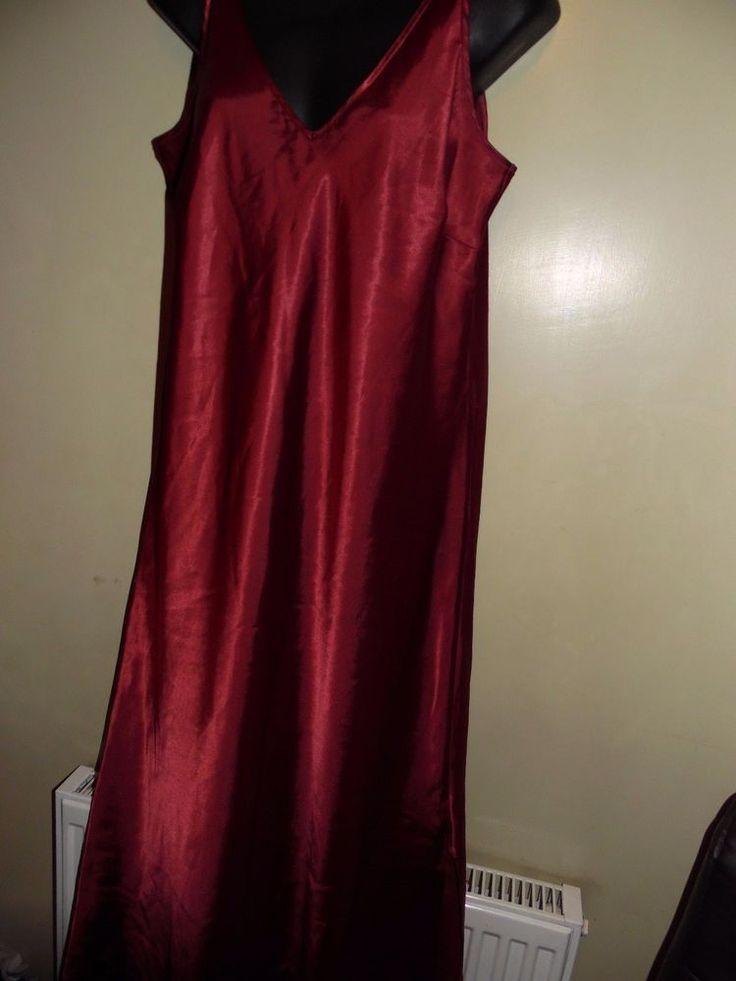 Marks & Spencer lady's long red nightdress size 16 #MarksandSpencer #NightdressesShirts