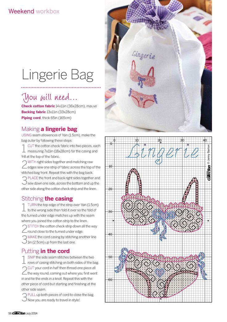 0 point de croix lingerie soutien-gorge et culotte - cross stitch underwears bra and knickers
