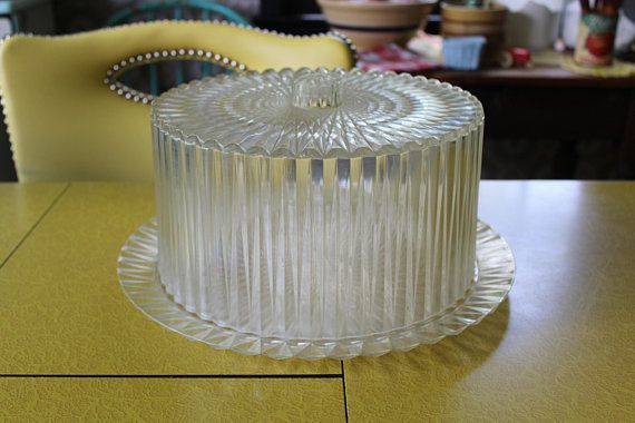 Vintage Cake Carrier, 1950s Plastic Cake Carrier, Acrylic Cake ...