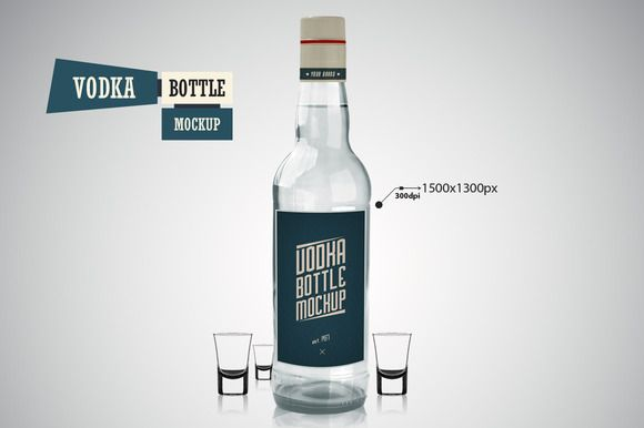 Vodka Bottle - Mockup by VectorMedia on @creativemarket